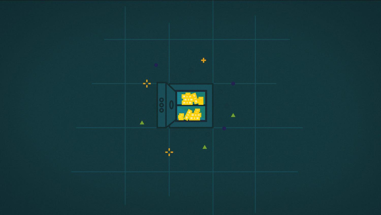 Coffre fort ouvert contient des lingots d'or