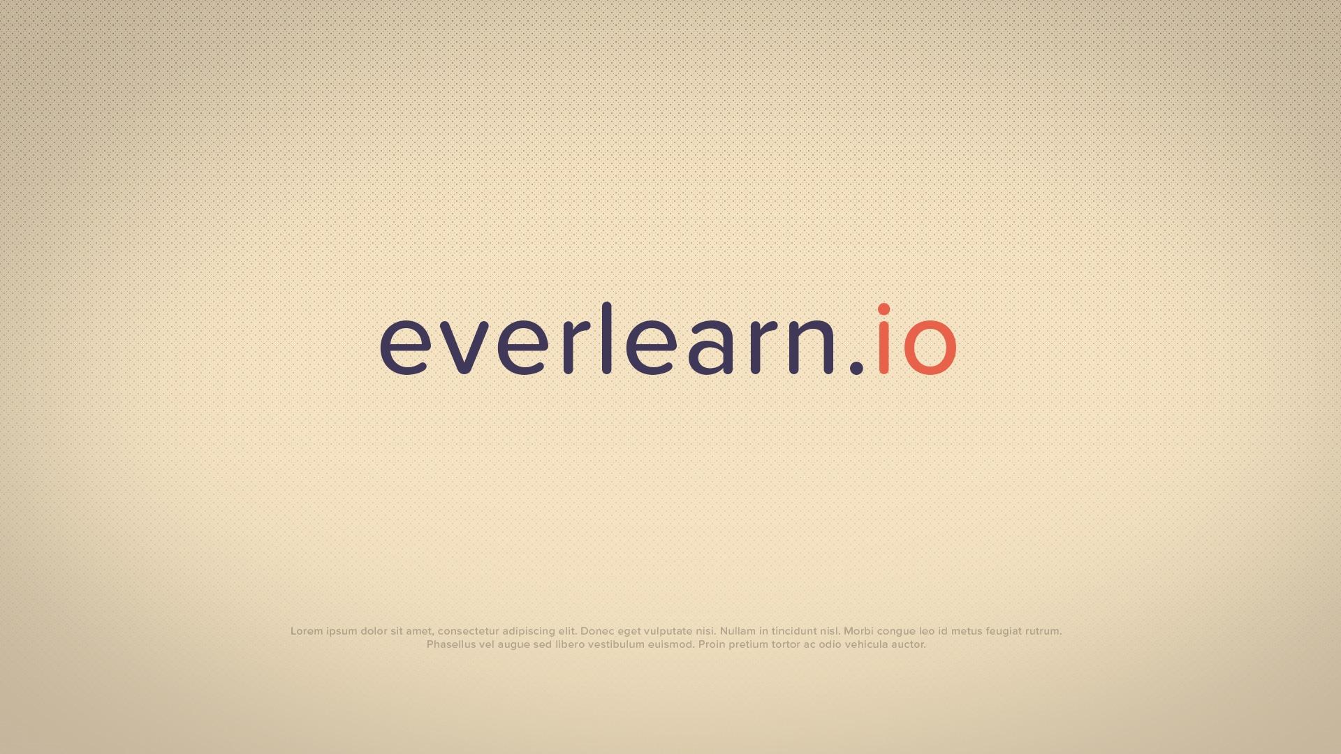 Ecran de fin de l'animation publicitaire Everlearn.io