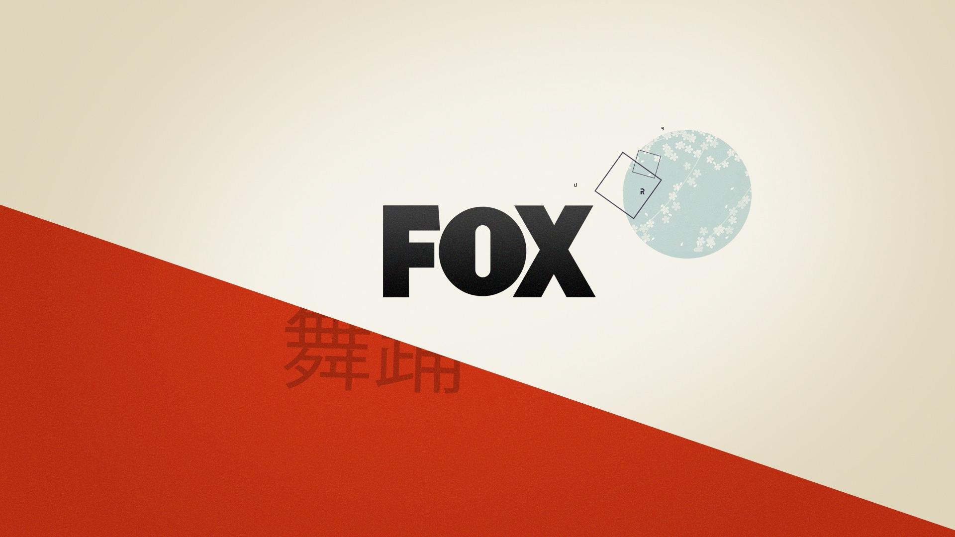 Logo de la chaine de TV FOX avec reprise des éléments graphiques et géométriques de la bande annonce