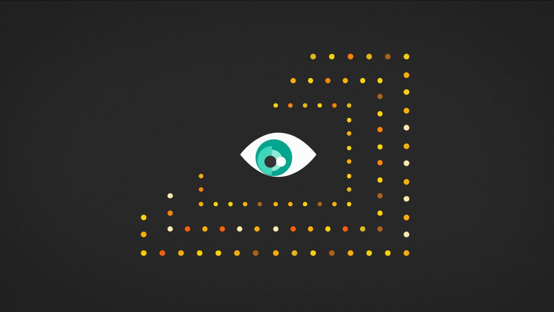 L'oeil continue de suivre du regard les points qui se forment autour de lui