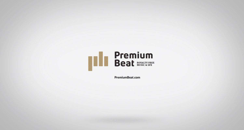 Ecran de fin de la publicité avec le logo Premiumbeat