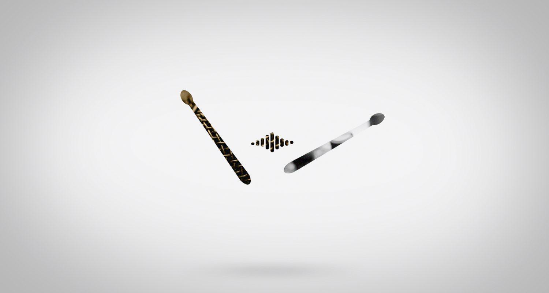 silhouette de baguettes avec texture microphone