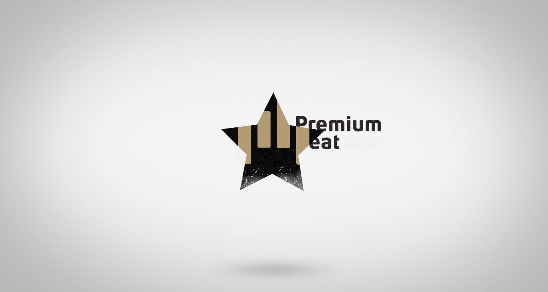 silhouette d'une étoile avec le symbole Premiumbeat et la révélation du logo