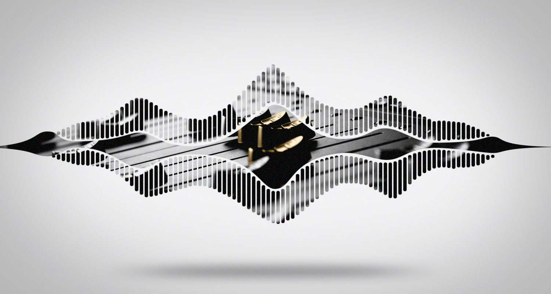 silhouette d'ondes avec une table de mixage