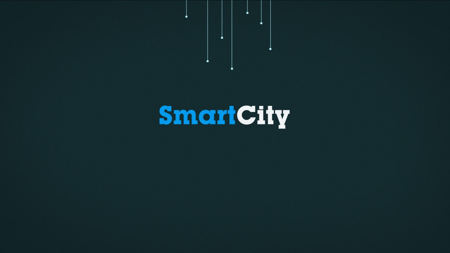 Ecran de fin de l'animation avec le titre : Smart City